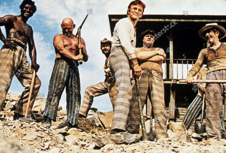 Stock Photo of FILM STILLS OF 'THERE WAS A CROOKED MAN' WITH 1970, CHAIN GANG, KIRK DOUGLAS