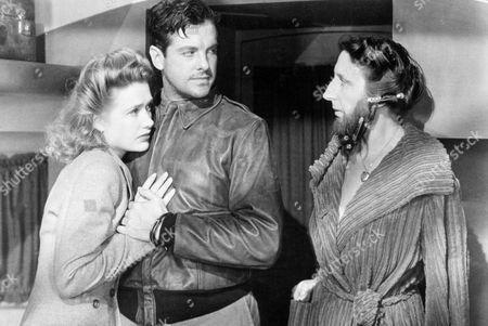 FILM STILLS OF 'SABOTEUR' WITH 1942, ANITA BOLSTER, ROBERT CUMMINGS, ALFRED HITCHCOCK, PRISCILLA LANE IN 1942