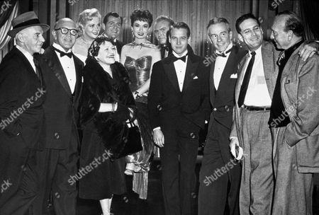 FILM STILLS OF 'HELEN MORGAN STORY' WITH 1957, ANN BLYTH, RICHARD CARLSON, MICHAEL CURTIZ, ENSEMBLE, GENE EVANS, ALAN KING, JIMMY McHUGH, PAUL NEWMAN, LOUELLA O PARSONS, MARTIN RACKIN, CARA WILLIAMS, WALTER WINCHELL IN 1957