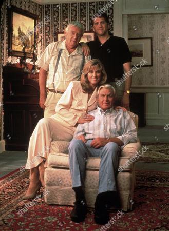FILM STILLS OF 'MATLOCK' WITH 1994, WARREN FROST, ANDY GRIFFITH, DANIEL ROEBUCK, BRYNN THAYER IN 1994