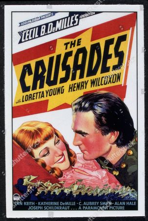 FILM STILLS OF 'CRUSADES' WITH 1935, CECIL B DeMILLE, HENRY WILCOXON, LORETTA YOUNG IN 1935