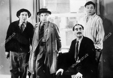 FILM STILLS OF 'ROOM SERVICE' WITH 1938, FRANK ALBERTSON, MARX BROTHERS, CHICO MARX, GROUCHO MARX, HARPO MARX, WILLIAM A SEITER IN 1938