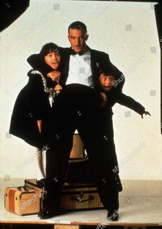 Stock Photo of FILM STILLS OF 'FOUR ROOMS' WITH 1995, ANTONIO BANDERAS, LANA McKISSACK, QUENTIN TARANTINO, DANNY VERDUZCO IN 1995