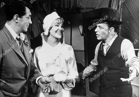 FILM STILLS OF 'ROBIN AND THE SEVEN HOODS' WITH 1964, GORDON DOUGLAS, DEAN MARTIN, BARBARA RUSH, FRANK SINATRA IN 1964