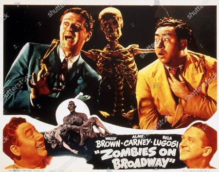 Stock Image of FILM STILLS OF 'ZOMBIES ON BROADWAY' WITH 1945, WALLY BROWN, ALAN CARNEY, GORDON DOUGLAS IN 1945