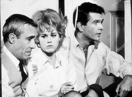 FILM STILLS OF 'ANY WEDNESDAY' WITH 1966, JANE FONDA, DEAN JONES, ROBERT ELLIS MILLER, JASON ROBARDS JR IN 1966
