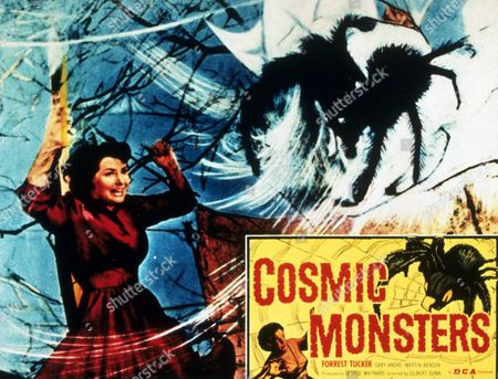 FILM STILLS OF 'COSMIC MONSTERS' WITH 1958, GABY ANDRE, GILBERT DUNN IN 1958