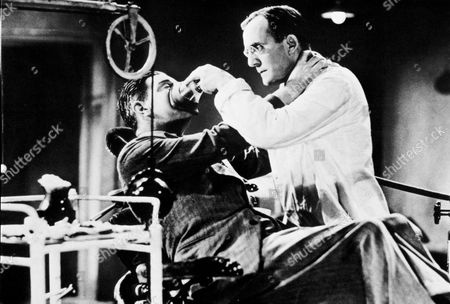 FILM STILLS OF 'MAN WHO KNEW TOO MUCH' WITH 1934, LESLIE BANKS, ALFRED HITCHCOCK, HENRY OSCAR IN 1934