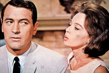 FILM STILLS OF 'VERY SPECIAL FAVOR' WITH 1965, LESLIE CARON, MICHAEL GORDON, ROCK HUDSON IN 1965