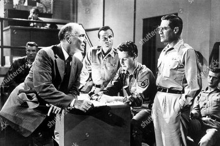 FILM STILLS OF 'ON THE THRESHOLD OF SPACE' WITH 1956, JOHN HODIAK, DEAN JAGGER, ROBERT WEBB IN 1956