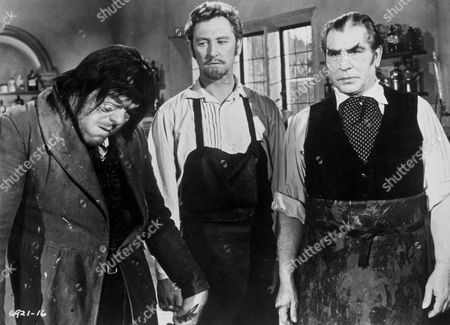 FILM STILLS OF 'BLOOD OF THE VAMPIRE' WITH 1958, VINCENT BALL, HENRY CASS, VICTOR MADDERN, DONALD WOLFIT IN 1958