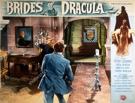 Stock Photo of FILM STILLS OF 'BRIDES OF DRACULA' WITH 1960, PETER CUSHING, TERENCE FISHER, DAVID PEEL IN 1960