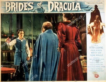 FILM STILLS OF 'BRIDES OF DRACULA' WITH 1960, PETER CUSHING, TERENCE FISHER, DAVID PEEL IN 1960