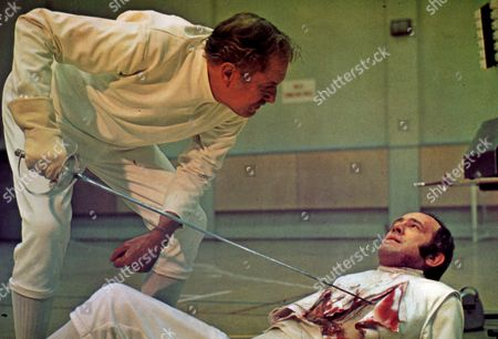FILM STILLS OF 'THEATRE OF BLOOD' WITH 1973, IAN HENDRY, DOUGLAS HICKOX, HORROR, VINCENT PRICE, REVENGE IN 1973