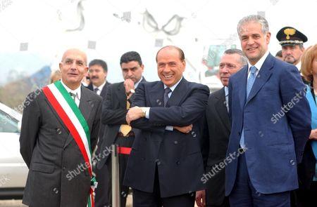 SILVIO BERLUSCONI WITH BRUNO FERRANTE, ROBERTO FORMIGONI AND GABRIELE ALBERTINI