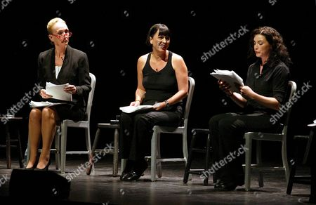 Kathleen Chalfant, Eve Ensler and Julianna Margulies