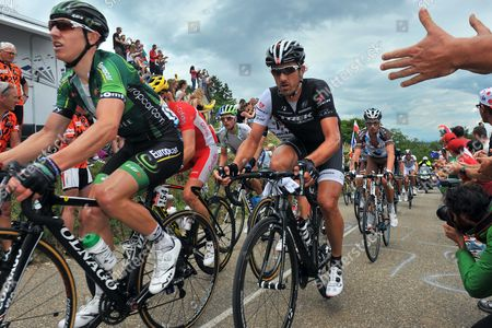 Stock Picture of Cycling: 101th Tour de France / Stage 9 Gautier Cyril (FRA)/ CANCELLARA Fabian (SUI)/  Gerardmer - Mulhouse (170Km)/