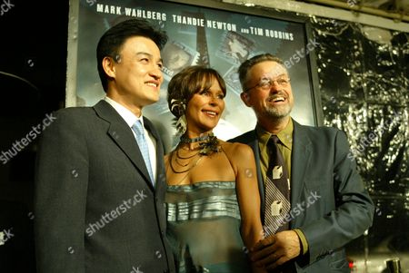 Stock Photo of Joong-Hoon Park, Christine Boisson and Director Jonathan Demme