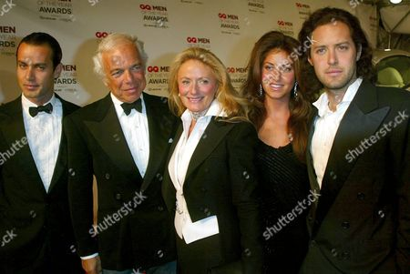 The Lauren Family (from left to right): Andrew Lauren, Ralph Lauren, Ricky Lauren, Dylan Lauren and David Lauren