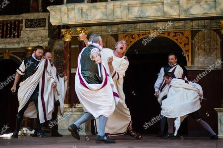 Editorial picture of 'Julius Caesar' play performed at The Globe Theatre, Bankside, London, Britain - 01 Jul 2014