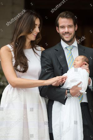Prince Felix and Princess Claire of Luxembourg with their daughter Princess Amalia