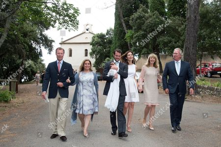 Grand Duke Henri of Luxembourg, Grand Duchess Maria Teresa of Luxembourg, Prince Felix, Princess Claire of Luxembourg, Mr and Mrs Lademacher