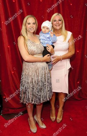 Vanessa Feltz and daughter Saskia Kurer with grandson