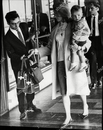 Vladimir Ashkenazy Wife Thorunn Tryggvason And Son At London Airport. Ashkenazy And Tryggvason Are Pianists.