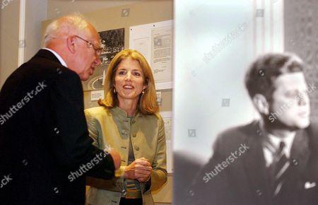 Stock Picture of Caroline Kennedy Schlossberg and Sergei Khrushchev