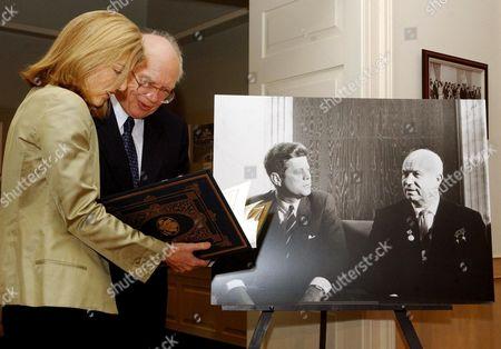 Stock Photo of Caroline Kennedy Schlossberg and Sergei Khrushchev