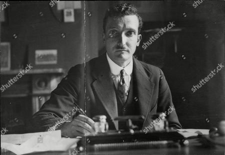 R. Stanley Gledhill In His Office. He Is To Marry Eleanor Henderson (daughter Of The Home Secretary).