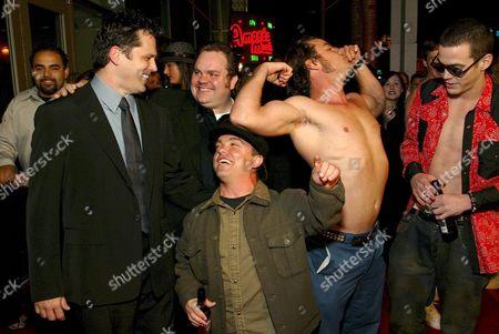 Jeff Tremaine, Preston Lacy, Jason 'Wee Man' Acuna, Chris Pontius and Steve-O