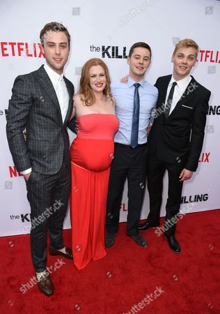 Sterling Beaumon, Mireille Enos, Tyler Ross and Levi Meaden