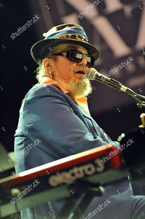 American singer-songwriter, pianist and guitarist Dr John  performs on stage