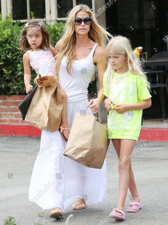 Denise Richards with daughters Eloise Joni Richards and Lola Rose Sheen