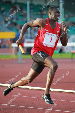 15.07.14 - Welsh Athletics International held at the Cardiff International Sports Stadium - Christian Malcolm who competes in his last ever race