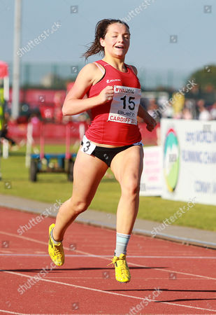 15.07.14 - Welsh Athletics International held at the Cardiff International Sports Stadium - Shannon Malone wins Womens 100m Final B
