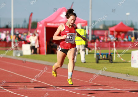 Stock Picture of 15.07.14 - Welsh Athletics International held at the Cardiff International Sports Stadium - Shannon Malone wins Womens 100m Final B