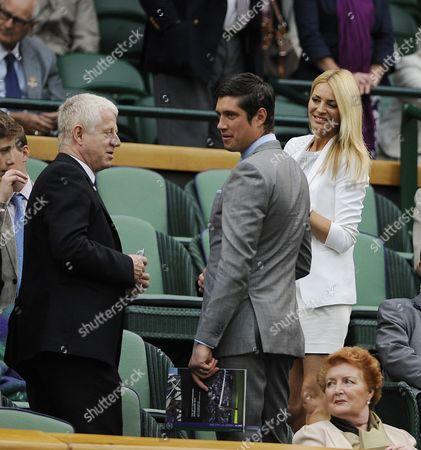 Wimbledon Tennis Championships 2013 Day Eight - Petra Kvitova V Kirsten Flipkens - Pic Shows:- Richard Curtis With Tess Daley And Vernon Kay.