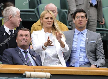 Wimbledon Tennis Championships 2013 Day Eight - Agnieszka Radwanska V Na Li - Pic Shows:- Phillip Brook In Royal Box With Tess Daley With Vernon Kay.