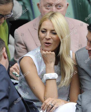 Stock Picture of Wimbledon Tennis Championships 2013 Day Eight - Agnieszka Radwanska V Na Li - Pic Shows:- Tess Daley In Royal Box.