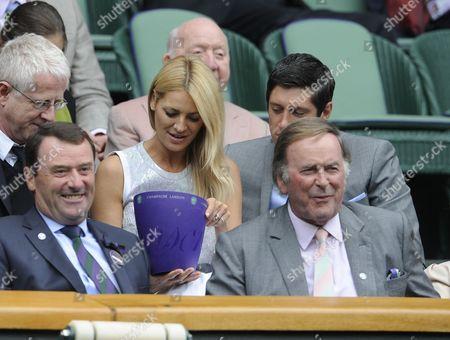 Wimbledon Tennis Championships 2013 Day Eight - Agnieszka Radwanska V Na Li - Pic Shows:- Sir Terry Wogan In Royal Box And Tess Daley With Vernon Kay.