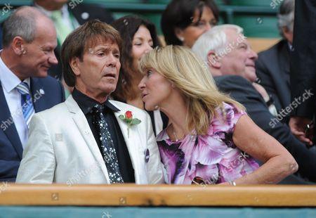 Sir Cliff Richard And Ms Bonnie Lythgoe In The Royal Box - Marion Bartoli V Kirsten Flipkens - Women's Singles Semi-final - Wimbledon.