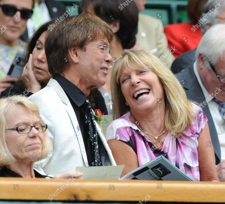 Sir Cliff Richard And Ms Bonnie Lythgoe In The Royal Box - Wimbledon Women's Singles Semi-final - Marion Bartoli V Kirsten Flipkens. Bartoli Won 6-1; 6-2 In Just 62 Minutes.