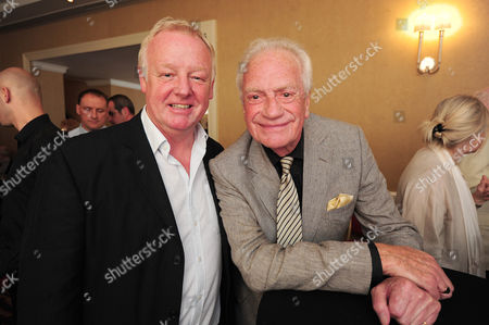 Editorial image of Les Dennis (left) And Unknown The Heritage Foundation Hosts A Dinner For Eric Sykes Cbe Plaque Unveiling At The Marriott Hotel Regents Park. London Uk 07/07/2013 Picture By Georgie Gillard London 2013.