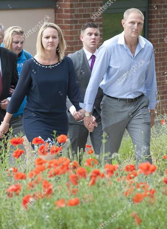 Sgt Danny Nightingale And His Wife Sally Leave The Bulford Court Martial Centre Wiltshire