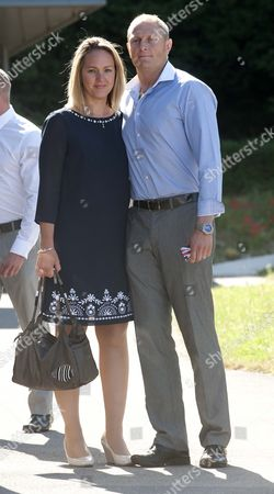 Sgt Danny Nightingale And His Wife Sally Arrive At The Bulford Court Martial Centre Wiltshire