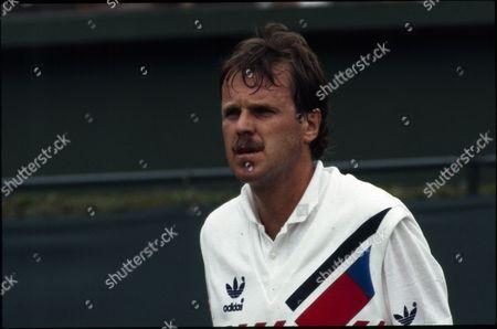 Stock Photo of Wojtek Fibak, Polish Tennis Player.