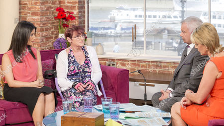 Alicia Alinia and Brenda Gorst with Eamonn Holmes and Ruth Langsford