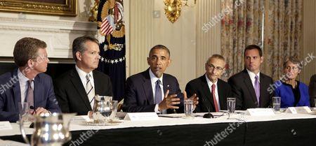 Editorial photo of Obama meets Tribal Leaders Climate Task Force, Washington D.C, America - 16 Jul 2014